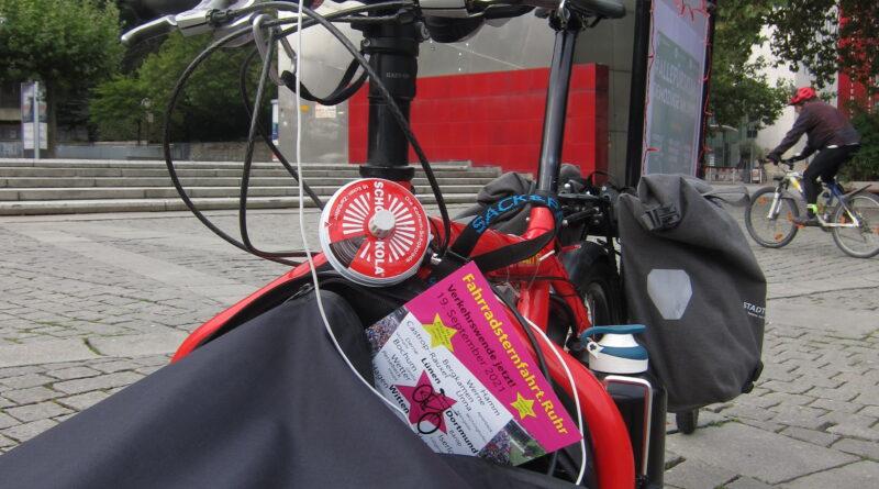 Fahrradsrernfahrt.ruhr, es kann los gehen. Das Fahrrad ist gepackt!