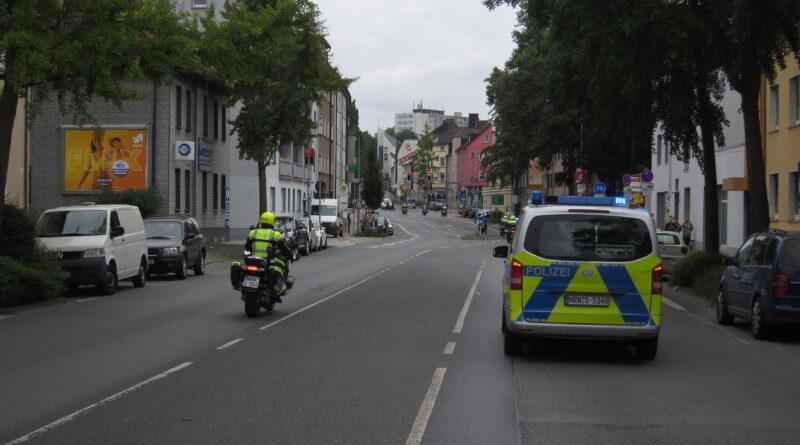 Streckensicherung durch die Polizei
